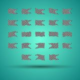 Racing background set collection of 23 checkered flags  illustration. EPS10.  Royalty Free Stock Image