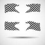 Racing background set collection of 4 checkered flags  illustration. EPS10.  Royalty Free Stock Photography