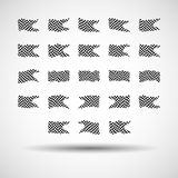 Racing background set collection of 23 checkered flags  illustration. EPS10.  Stock Photos