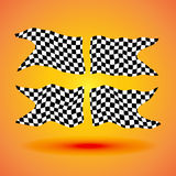Racing background set collection of four checkered flags  illustration Stock Photos