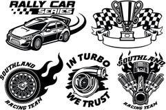 Racing Badge design set Stock Images