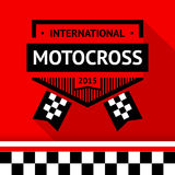 Racing badge 16. Vector illustration Royalty Free Stock Photography