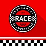 Racing badge 14 Stock Photo