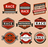 Racing badges set - vintage style Royalty Free Stock Photography