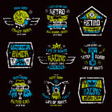 Racing badges for t-shirt Royalty Free Stock Photos