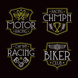 Racing badges for t-shirt Royalty Free Stock Image