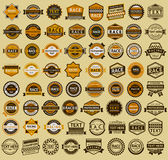 Racing badges - vintage style Royalty Free Stock Photos