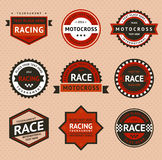 Racing badges, vintage style Royalty Free Stock Image