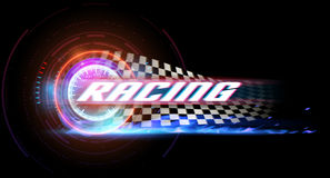 Racing banner Royalty Free Stock Images