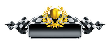 Racing banner with trophy Royalty Free Stock Images