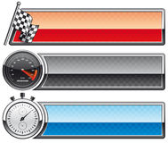 Racing banners Royalty Free Stock Photos