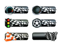 Racing banners set Royalty Free Stock Photography