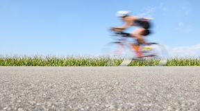 Racing bicycle, motion blur Royalty Free Stock Photography