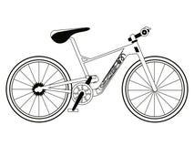 Racing bicycle silhouette Stock Photos