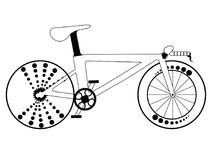 Racing bicycle silhouette Stock Photography