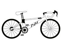 Racing bicycle silhouette Stock Images