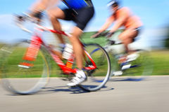 Racing bicycles, motion blur Royalty Free Stock Photos