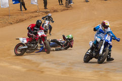 Racing bike accident Royalty Free Stock Photography