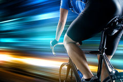 Racing bike. Active racing driver very qick Stock Images