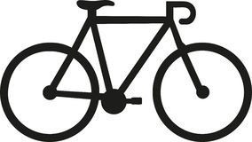 Racing bike icon. Simple racing bike icon cycling stock images