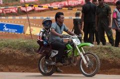 Racing bike kid Royalty Free Stock Images