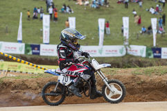 Racing bike kide Stock Images