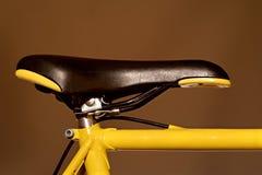 Racing bike saddle. Closeup Stock Photos