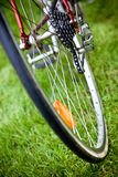 Racing bike wheel Stock Images