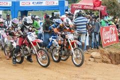 Racing bikes Stock Photography
