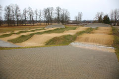 Racing BMX track Royalty Free Stock Images