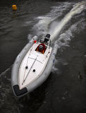 Racing boat. On a bend Royalty Free Stock Image