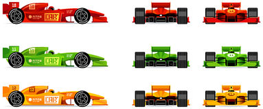Racing bolides Royalty Free Stock Images