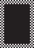 Racing border. Racing flag border illustration black and white grid a4 Royalty Free Stock Photography