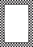 Racing border. Illustration of racing flag border a4 paper size Royalty Free Stock Photography