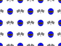 Racing Seamless Pattern 3 Blue Stock Photo
