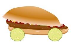 Racing burger car illustration Royalty Free Stock Images