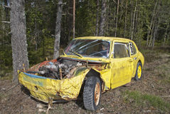 Racing car. That has made its, the cars have run something we in Norway call for car cross. Car cross is a motorsport for cars that run on either pure clay Royalty Free Stock Photo