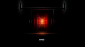 Racing car backlight. F1 spotlight. Abstract dark background. Race Track Royalty Free Stock Photos
