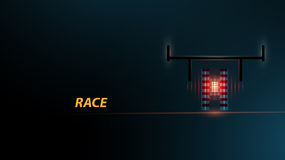 Racing car backlight. F1 spotlight. Abstract dark background. Race Track Stock Photography