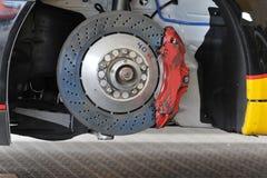 Racing car brake rotor Royalty Free Stock Images