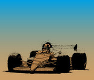 Racing car on the circuit in vector Royalty Free Stock Photography