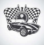Racing Car cobra. Illustration of a sports car Stock Image