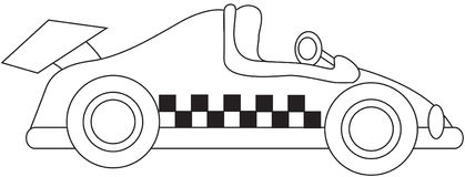 Racing car coloring page Royalty Free Stock Photos