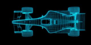 Racing car 3d rendering Royalty Free Stock Images