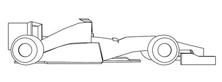 Racing car draw Royalty Free Stock Images