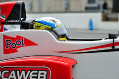 Racing car driver in Monza race track Stock Images
