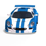Racing car fantasy blue white Stock Images