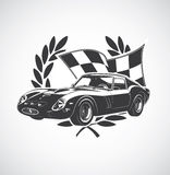 Racing Car fer. Illustration of a sports car Royalty Free Stock Photo