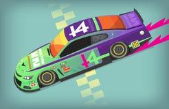 Racing car on finish line Royalty Free Stock Photo