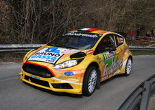Racing car Ford Fiesta in the foreground Stock Image